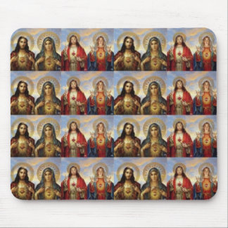 Multiple Jesus & Mary Sacred Hearts Mouse Pads