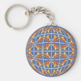 Multiple koi carp in sphere key chain