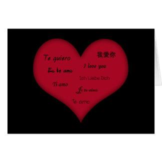 """Multiple Language """"I Love You"""" Card"""