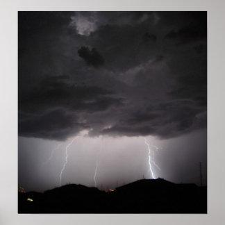 Multiple Lightning Strikes Poster