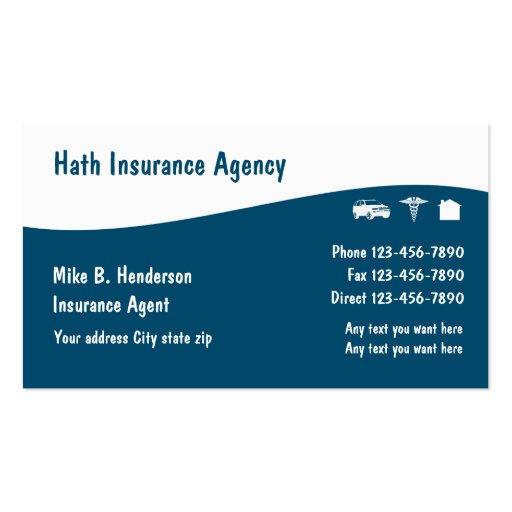 Multiple Line Insurance Business Cards : Zazzle