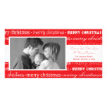 Multiple Merry Christmas Photocards (Red) Personalized Photo Card