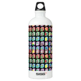 Multiple Miniature Abstract Art Patterns on Gifts Aluminum Water Bottle