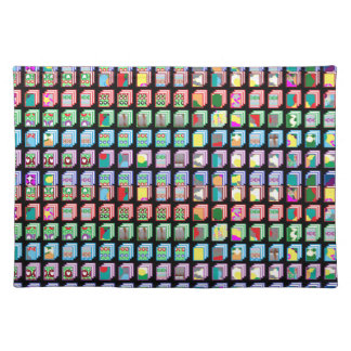 Multiple Miniature Abstract Art Patterns on Gifts Cloth Placemat