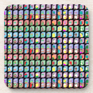 Multiple Miniature Abstract Art Patterns on Gifts Coaster