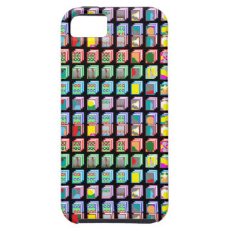 Multiple Miniature Abstract Art Patterns on Gifts iPhone SE/5/5s Case