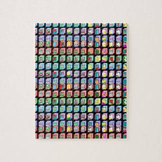 Multiple Miniature Abstract Art Patterns on Gifts Jigsaw Puzzle