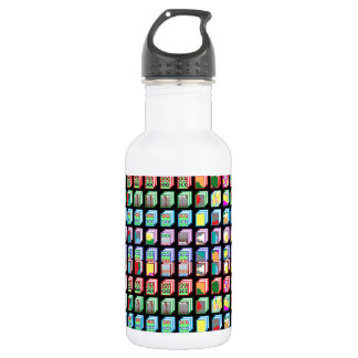 Multiple Miniature Abstract Art Patterns on Gifts Water Bottle