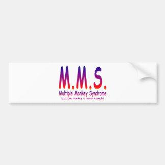 Multiple Monkey Syndrome Car Bumper Sticker
