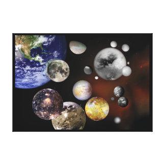 Multiple Moons Space Art NASA Canvas Print