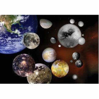 Multiple Moons Space Art NASA Photo Cutout