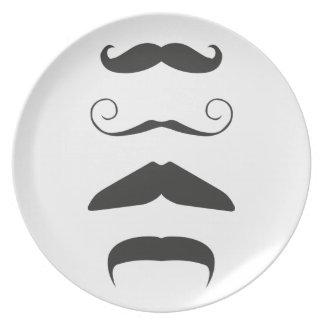 Multiple Moustache Dinner Plate