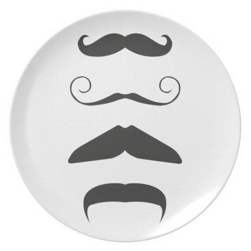 Multiple Moustache Party Plates