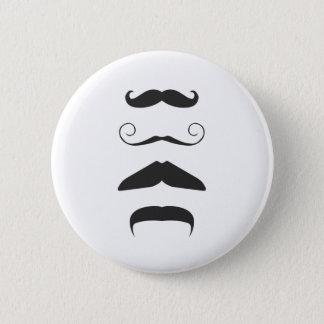Multiple Moustache Pinback Button