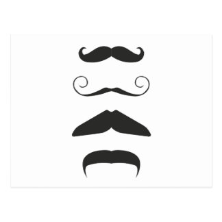 Multiple Moustache Postcard