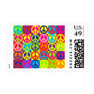 Multiple Multicolor Peace Postage