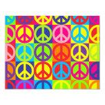 Multiple Multicolor Peace Signs Announcements