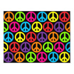 Multiple Multicolor Peace Signs Custom Announcement