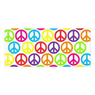 Multiple Multicolor Peace Signs Rack Card