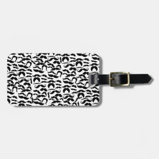 Multiple Mustache Variations Pattern Luggage Tag