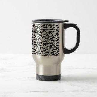 Multiple Mustache Variations Pattern Travel Mug