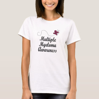 Multiple Myeloma Awareness Burgundy Butterfly T-Shirt