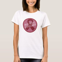 Multiple Myeloma Awareness Burgundy Ribbon T-Shirt