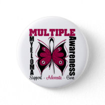 Multiple Myeloma Awareness Butterfly Button