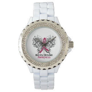 Multiple Myeloma Awareness Butterfly Wristwatch