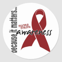 Multiple Myeloma Awareness Classic Round Sticker