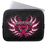 Multiple Myeloma Awareness Heart Wings Laptop Computer Sleeve