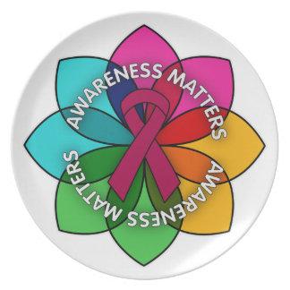Multiple Myeloma Awareness Matters Petals Dinner Plates