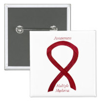 Multiple Myeloma Awareness Ribbon Custom Pins