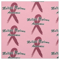 Multiple Myeloma Awareness Ribbon of Hope Fabric