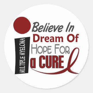 Multiple Myeloma BELIEVE DREAM HOPE Classic Round Sticker