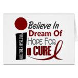Multiple Myeloma BELIEVE DREAM HOPE Greeting Card