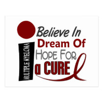 Multiple Myeloma BELIEVE DREAM HOPE Postcard