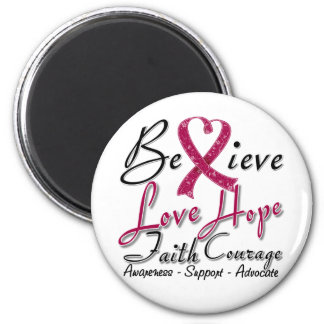 Multiple Myeloma Believe Heart Collage Refrigerator Magnet