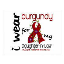 Multiple Myeloma BURGUNDY FOR MY DAUGHTER-IN-LAW Postcard