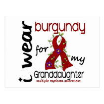 Multiple Myeloma BURGUNDY FOR MY GRANDDAUGHTER 43 Postcard