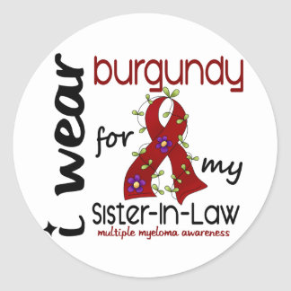 Multiple Myeloma BURGUNDY FOR MY SISTER-IN-LAW 43 Stickers
