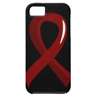 Multiple Myeloma Burgundy Ribbon 3 iPhone SE/5/5s Case