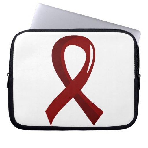Multiple Myeloma Burgundy Ribbon 3 Laptop Sleeve