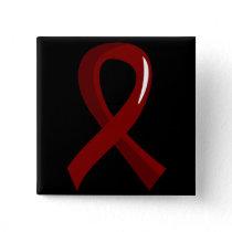 Multiple Myeloma Burgundy Ribbon 3 Pinback Button