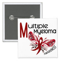 Multiple Myeloma BUTTERFLY 3.1 Pinback Button