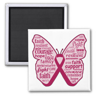 Multiple Myeloma Butterfly Collage of Words Refrigerator Magnet