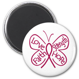 Multiple Myeloma Butterfly Inspiring Words Magnet