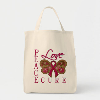 Multiple Myeloma Butterfly Peace Love Cure Bag