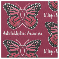 Multiple Myeloma: Butterfly Ribbon of Hope Fabric