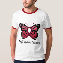 Multiple Myeloma: Butterfly Ribbon of Hope T-Shirt